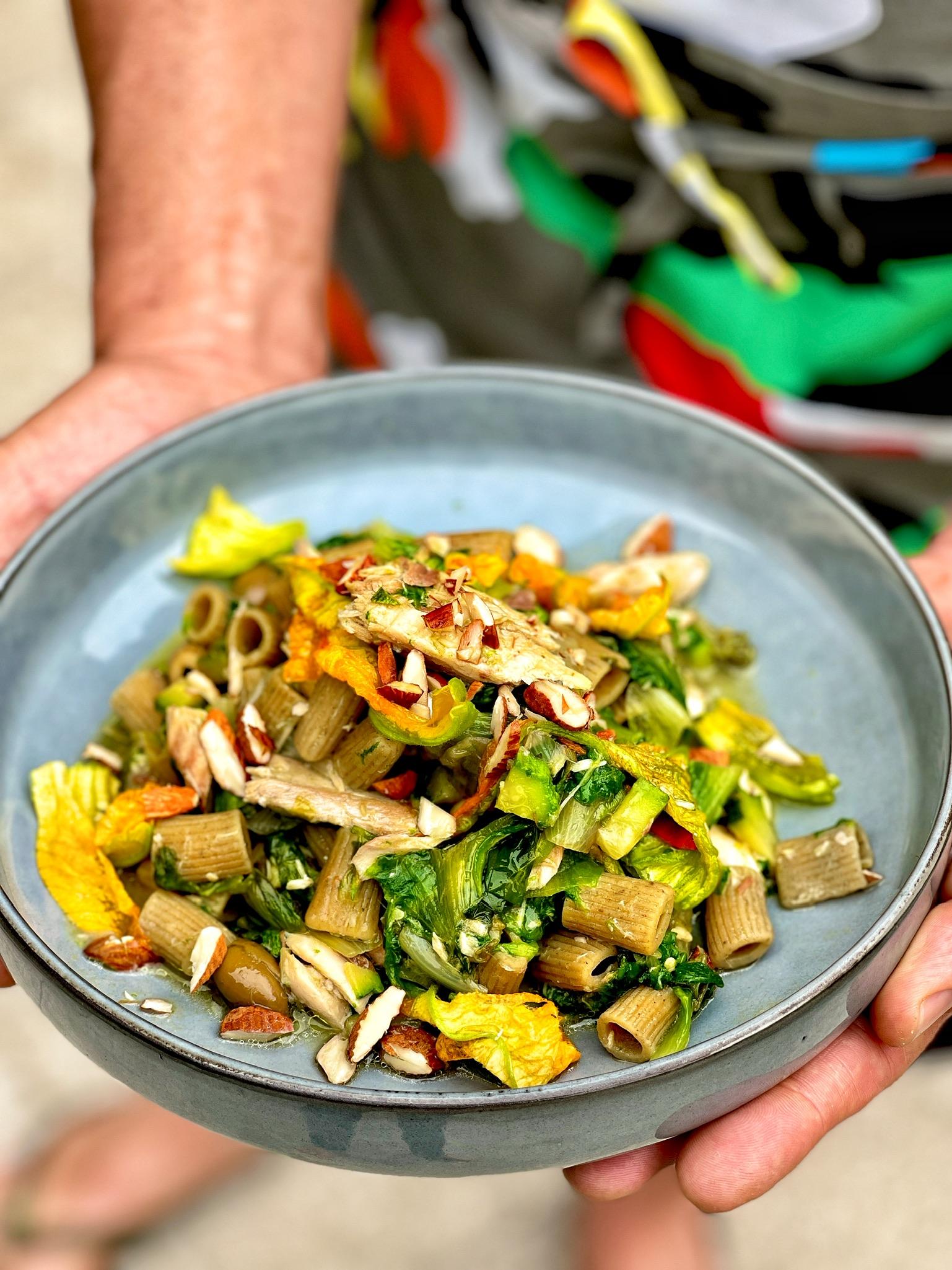 Pasta con pesce e verdure – gluten free – insieme a Chef Max Mariola